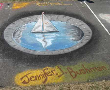 Chalkfest Sailboat