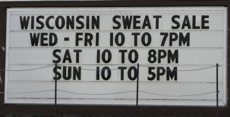Sweat for Sale!
