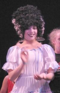 Olivia Hagen as the Bride of Frankenstein