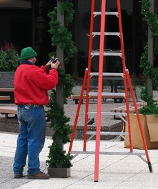 Decorating the First American Center downtown